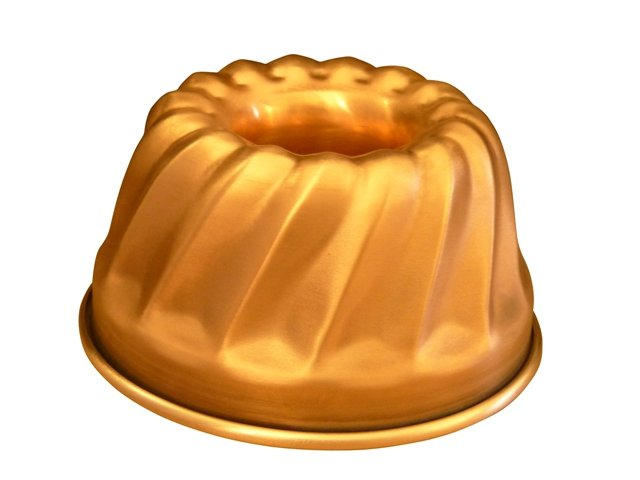 Kupfer Gugelhupf-Backform gewellt Antihaft Ø 16 cm