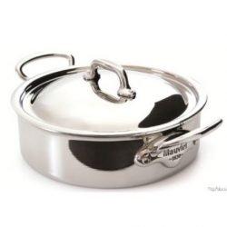 Mauviel M'cook Multi Ply Niederer Bratentopf mit Edelstahldeckel