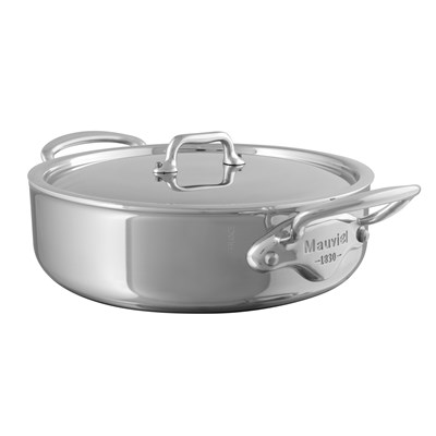 5230 Mauviel M'cook Niederer Bratentopf mit Edelstahldeckel