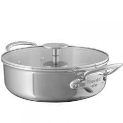 Mauviel M'cook Multi-Ply Niederer Bratentopf mit Glasdeckel