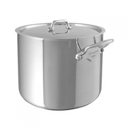5232 Mauviel M'cook Hoher Kochtopf Suppentopf mit Edelstahldeckel - Stockpot with lid
