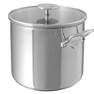 Mauviel M'cook Multi-Ply Hoher Koch-/Suppentopf mit Edelstahldeckel