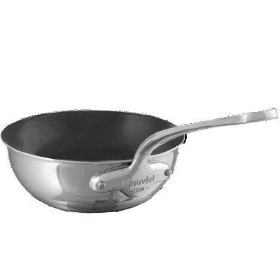 Mauviel M'cook Multi-Ply Bauchige Sauteuse ANTIHAFT Edelstahlgriff