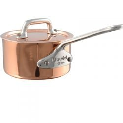 Mauviel M'minis Kupfer Kasserolle 9 cm mit Deckel, Edelstahlgriff