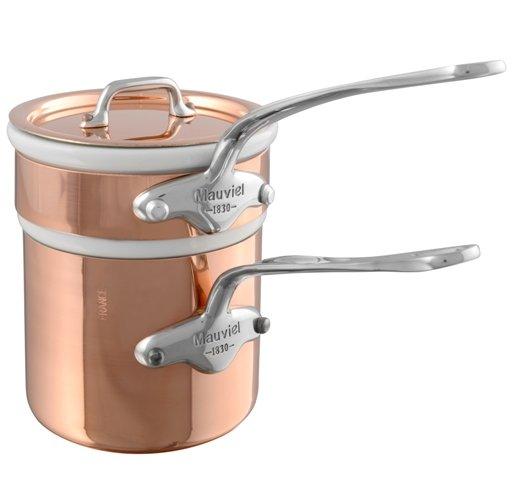 Mauviel M'150s Kupfer Bain Marie Edelstahlgriffe