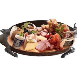 Catering Partyservice Bankett Platte Holz Büfett-Brett SCHWEIN m Brotzeit