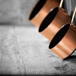 Kupfer Stielkasserollen Antihaft Induktionsgeeignet