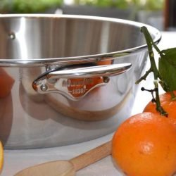 Mauviel Edelstahl Konfitürentopf mit Orangen