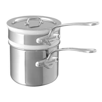 Mauviel M'cook 5204 Bain Marie Wasserbad 3-teilig Kasserolle Edelstahlgriffe