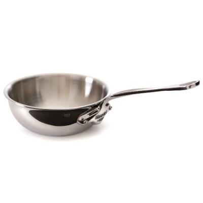 Mauviel M'cook 5212 Bauchige konische Sauteuse - Stieltopf - Edelstahlgriff