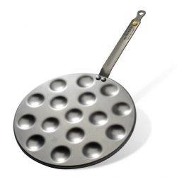Eisenpfanne für Poffertjes und Mini Blinis