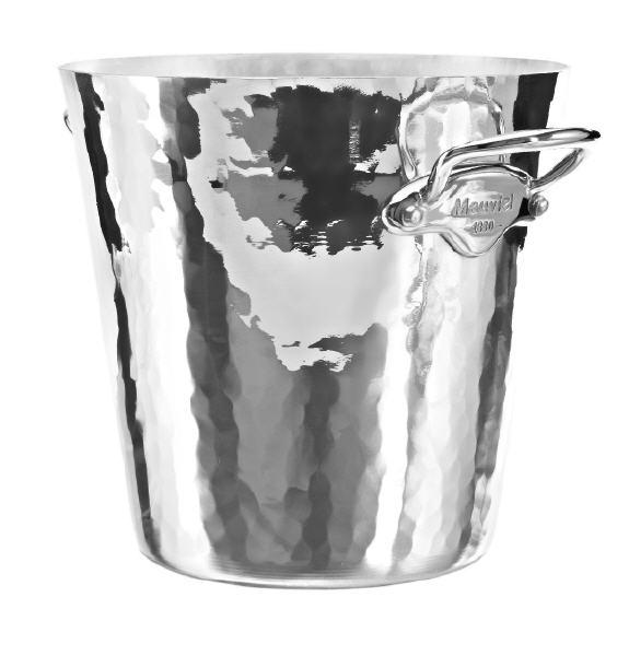 Mauviel M'30 ALU Sekt-/Champagnerkühler gehämmert Edelstahlgriffe