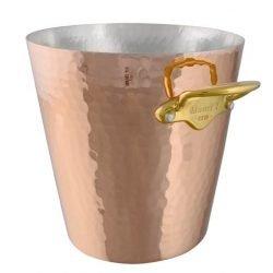 Mauviel M'30 Kupfer Sekt-/ Champagnerkühler Bronzegriffe