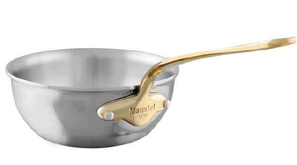 Mauviel M'cook Multi-Ply Bauchige Sauteuse Bronzegriff
