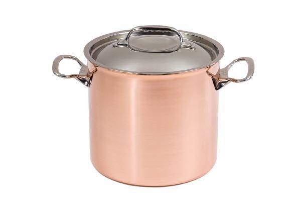 Kupfer Koch-/Suppentopf mit Deckel für Induktion