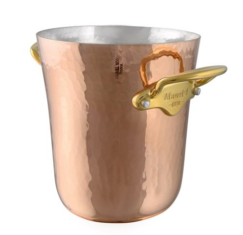 Mauviel M'30 Kupfer Eiskübel für kleine Flasche / Piccolo Bronzegriffe