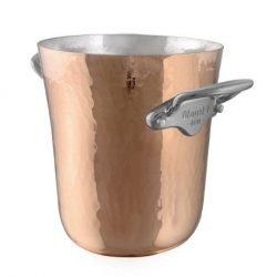 Mauviel M'30 Kupfer Eiskübel für eine kleine Flasche / Piccolo Edelstahlgriffe