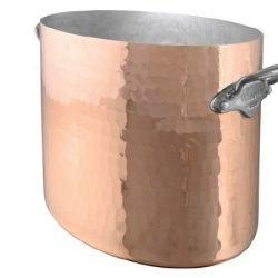 Mauviel M'30 Ovaler Kupfer Sekt-/Champagnerkühler Edelstahlgriffe