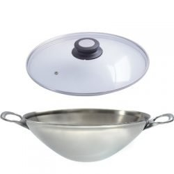 De Buyer Wok mit Glasdeckel
