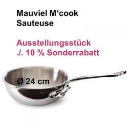 Mauviel M'cook 5212 Sauteuse bauchig 24 cm