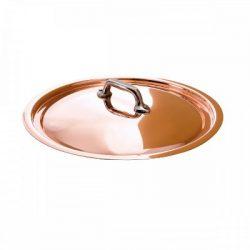 Mauviel 6218 Bauchiger Deckel Kupfer mit Edelsthalgriff