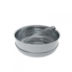 DeBuyer Daempfeinsatz aus Edelstahl 24 cm für eine leichte, kalorienarme Küche der natürlichen Aromen