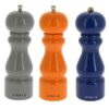 De Buyer Pfeffer- Salz- Gewürzmühle Rumba 20 cm aus farbig lackiertem Holz Grau, Orange, Blau