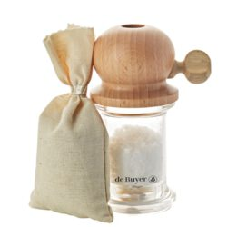 M888_128301 De Buyer Marlux Salzmühle GIFT BOX MILL & SALT PITOULEE 12CM