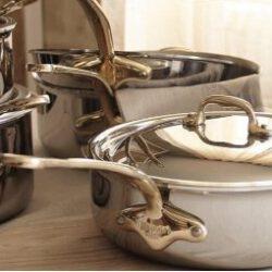 Mauviel M'cook Bronzegriffe, Mehrschicht-Edelstahl